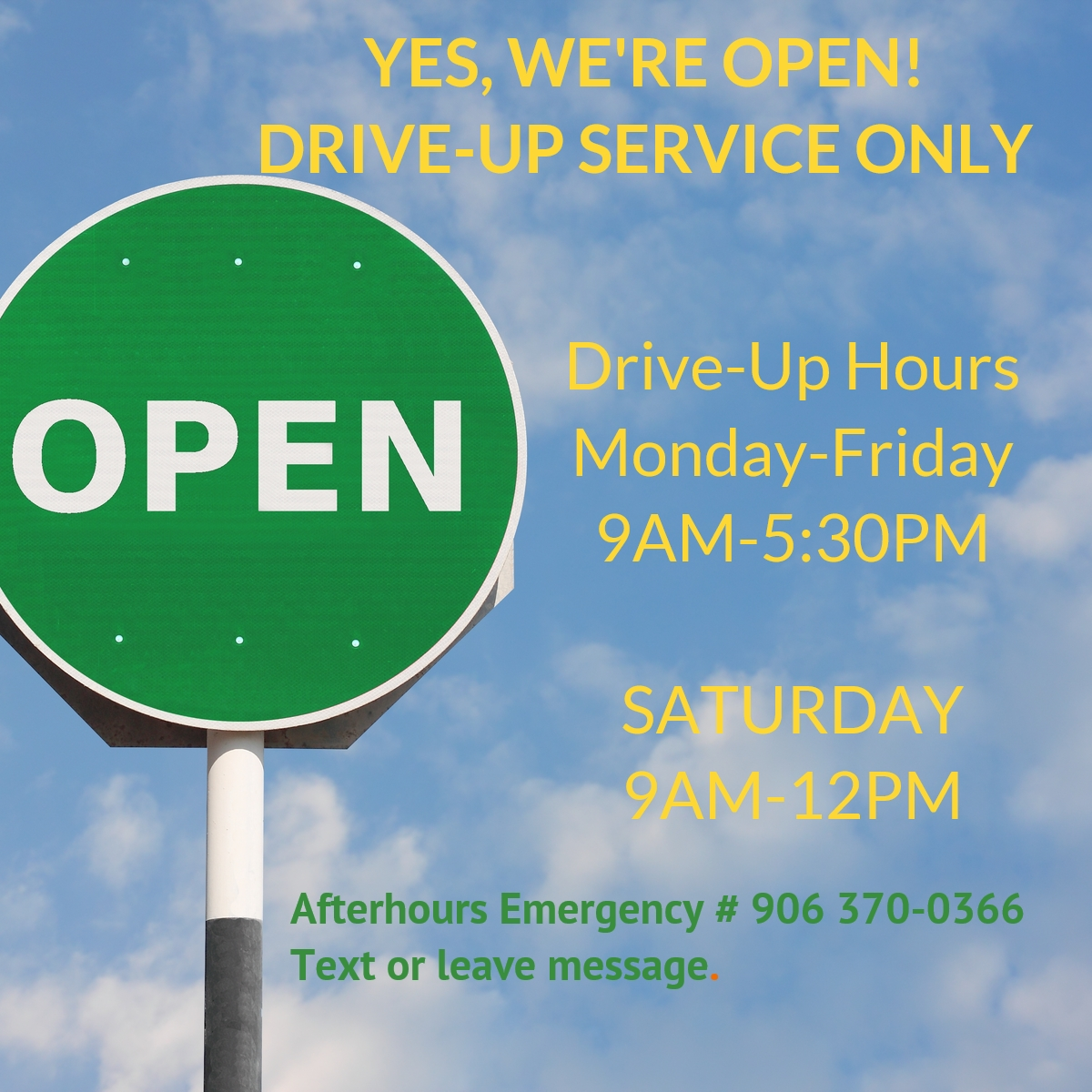 yes we're open-pandemic response